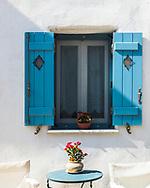 Aliki, Paros, Greece - July 2021: Traditional House