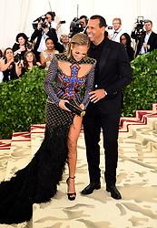 Jennifer Lopez and Alex Rodriguez attending the Metropolitan Museum of Art Costume Institute Benefit Gala 2018 in New York, USA.
