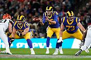 LA Rams Quarterback Jared Goff (16) during the International Series match between Los Angeles Rams and Cincinnati Bengals at Wembley Stadium, London, England on 27 October 2019.