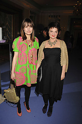 Left to right, DAISY BATES and LULU GUINNESS at the 10th Anniversary Party of the Lavender Trust, Breast Cancer charity held at Claridge's, Brook Street, London on 1st May 2008.<br /><br />NON EXCLUSIVE - WORLD RIGHTS