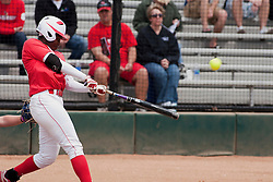 15 April 2012:  Jhavon Hamilton during an NCAA women's softball game between the Drake Bulldogs and the Illinois State Redbirds on Marian Kneer Field in Normal IL