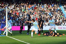 """Foto LaPresse/Filippo Rubin<br /> 03/03/2019 Ferrara (Italia)<br /> Sport Calcio<br /> Spal - Sampdoria - Campionato di calcio Serie A 2018/2019 - Stadio """"Paolo Mazza""""<br /> Nella foto: GOAL SERGIO FLOCCARI (SPAL) POI ANNULLATO DAL VAR<br /> <br /> Photo LaPresse/Filippo Rubin<br /> March 03, 2019 Ferrara (Italy)<br /> Sport Soccer<br /> Spal vs Sampdoria - Italian Football Championship League A 2018/2019 - """"Paolo Mazza"""" Stadium <br /> In the pic: GOAL SPAL SERGIO FLOCCARI (SPAL) DELETED BY VAR"""