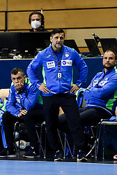 Ljubomir Vranjes, head coach of Slovenia and Uros Zorman, assistant coach of Slovenia during handball match between National Teams of Germany and Slovenia at Day 2 of IHF Men's Tokyo Olympic  Qualification tournament, on March 13, 2021 in Max-Schmeling-Halle, Berlin, Germany. Photo by Vid Ponikvar / Sportida