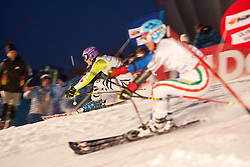 02.01.2011, Olympia Rondell, Muenchen, GER, FIS World Cup Ski Alpin, Lady, Paralell Slalom, im Bild duell Susanne Riesch (GER, #16) vs Daniela Merighetti (ITA, #15). EXPA Pictures © 2011, PhotoCredit: EXPA/ J. Groder