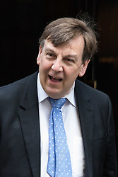 Downing Street, London, February 23rd 2016. Culture Secretary and EU-Leave campaigner John Whittingdale leaves the weekly cabinet meeting.  ©Paul Davey<br /> FOR LICENCING CONTACT: Paul Davey +44 (0) 7966 016 296 paul@pauldaveycreative.co.uk