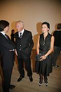 Pio Cabanillas, Jose Cusi and Mrs. Ines Cusi, Dali and Film. Tate Modern. 30 May 2007.  -DO NOT ARCHIVE-© Copyright Photograph by Dafydd Jones. 248 Clapham Rd. London SW9 0PZ. Tel 0207 820 0771. www.dafjones.com.