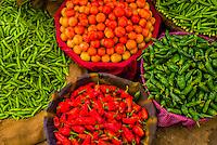 Vegetables at a street market in Choti Chaupar (circle), Jaipur, Rajasthan, India