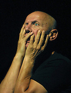 British actor and director Steven Berkoff in his one man show entitled 'Requiem for Ground Zero', his homage to the unknown victims of the 9/11 terrorist attacks, which is being staged at the Assembly Rooms as part of the Edinburgh Festival Fringe from 14-26 August.........