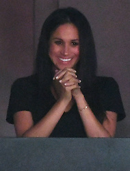 Prince Harry, Meghan Markle and Meghan's Mother Doria Radlan, attend The Invictus Games 2017 Closing Ceremony at the Air Canada Centre, Toronto, Ontario, Canada, on the 30th September 2017. 30 Sep 2017 Pictured: Meghan Markle. Photo credit: James Whatling / MEGA TheMegaAgency.com +1 888 505 6342