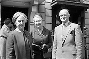 17/05/1962<br /> 05/17/1962<br /> 17 May 1962<br /> Irish Red Cross Society New Council elected at Westland Row Dublin. Pictured (l-r) are: Mrs Felix Hackett, Vice Chairman; Mrs Tom Barry, Chairman and Col. Michael McInerney, Honorary Treasurer.