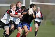 action from Canada U17's v France rugby match, Millfield festival, April 2008..pic by Andrew Orchard, Andrew Orchard sports photography,