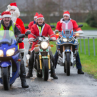 Santa Claus with Members of West Clare Motorcycle Club arriving at St Clares School