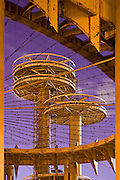 New York City: The New York State Pavillion, in Flushing Meadows Park, Queens, ruins of the World's Fair.