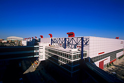Stock photo of the George R. Brown Convention Center with Minute Maid Park beyond.