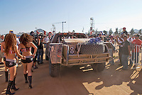 Robby Gordon's trophy truck arrving in Cabo San Lucas at finish of 2007 Baja 1000