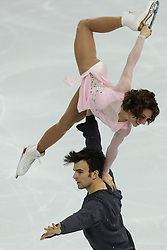 The XXII Winter Olympic Games 2014 in Sotchi, Olympics, Olympische Winterspiele Sotschi 2014, Figure Skating, Pairs Short Program,<br /> Meagan Duhamel and Eric Radford (Canada) perform their short program in the pair skating competition at the XXII Olympic Winter Games *** Local Caption ***