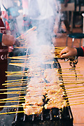 Satay at Keat-ocha Chicken Rice, Chiang Mai