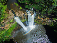 Aerial photograph of Wailua Falls, Kauai, Hawaii, USA