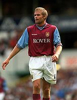 Fotball. Premier League. 24.08.2002.<br /> Tottenham v Aston Villa<br /> Olaf Mellberg, Villa.<br /> Foto: David Price, Digitalsport