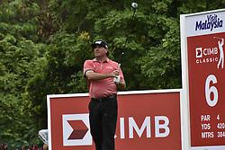 October 13, 2017 - Kuala Lumpur, Malaysia - Pat Perez of USA in action during the second round of the CIMB Classic 2017 golf tournament on October 13, 2017 at TPC Kuala Lumpur, Malaysia. (Credit Image: © Chris Jung/NurPhoto via ZUMA Press)