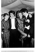 Sarah Hamilton, David Cameron, Francesca Ferguson and Tim Murphy. Valentine Ball. Oxford Union. 14 February 1987. . SUPPLIED FOR ONE-TIME USE ONLY> DO NOT ARCHIVE. Photograph by Dafydd Jones 248   Clapham Rd. London SW9 OPZTel 020 7733 0108 www.dafjones.com