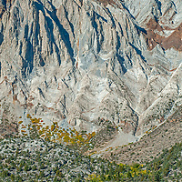 Dramatically eroded Laurel Mountain reflects in Convict Lake in the eastern Sierra Nevada near Mammoth Lakes, California.