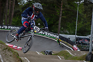 #187 (GARCIA Jared) USA during round 3 of the 2017 UCI BMX  Supercross World Cup in Zolder, Belgium,