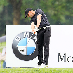 27.06.2015, Golfclub München Eichenried, Muenchen, GER, BMW International Golf Open, Tag 3, im Bild Marcel Schneider (GER) am Abschlag // during the day three of BMW International Golf Open at the Golfclub München Eichenried in Muenchen, Germany on 2015/06/27. EXPA Pictures © 2015, PhotoCredit: EXPA/ Eibner-Pressefoto/ Kolbert<br /> <br /> *****ATTENTION - OUT of GER*****