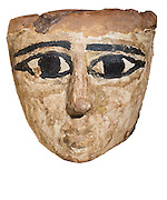 An Egyptian wooden mask 1st Millennium BC On White Background