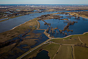 Nederland, Gelderland, Gelderse Poort, 07-03-2010; Ooijpolder (Ooypolder), natuurgebied aan de Waal ten noordoosten van Nijmegen. Het gebied heeft op de nominatie gestaan om gebruikt te worden als noodoverloopgebieden bij hoogwater  .Nature reserve along the river Waal, near Nijmegen. The area was nominated to be used as an emergency overflow area..luchtfoto (toeslag), aerial photo (additional fee required).foto/photo Siebe Swart
