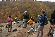 Hiking Group on Airplane Rock, Hocking Forest, Hocking Hills, Ohio, Hiking