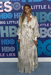 May 29, 2019 - New York, New York, United States - Merrin Dungey wearing dress by Judy Swartz attends HBO Big Little Lies Season 2 Premiere at Jazz at Lincoln Center  (Credit Image: © Lev Radin/Pacific Press via ZUMA Wire)