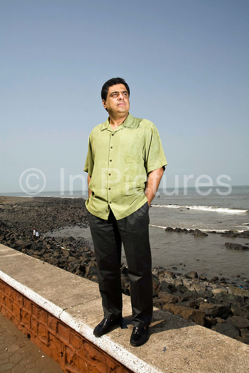 Ronnie Screwvala, CEO of UTV, at Sea Face Bay in Mumbai (formerly Bombay), India.<br /> As a producer and businessman, over the past five years Screwvala has led the transformation of India's prolific but chaotic film industry to become a crossover figure in Hollywood and Bollywood.