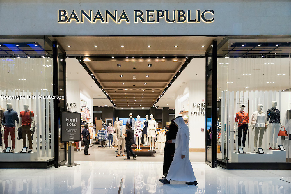 Banana Republic  clothes shop in Dubai Mall Dubai United Arab Emirates