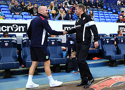Sean Dyche manager of Burnley shakes hands with Bolton manager Phil Parkinson before kick off - Mandatory by-line: Matt McNulty/JMP - 26/07/2016 - FOOTBALL - Macron Stadium - Bolton, England - Bolton Wanderers v Burnley - Pre-season friendly