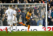 Goal celebration by Wolverhampton Wanderers forward Benik Afobe during the EFL Sky Bet Championship match between Leeds United and Wolverhampton Wanderers at Elland Road, Leeds, England on 7 March 2018. Picture by Paul Thompson.