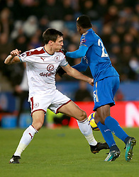 """Leicester City's Onyinye Ndidi (right) and Burnley's Jack Cork during the Premier League match at the King Power Stadium, Leicester. PRESS ASSOCIATION Photo Picture date: Saturday December 2, 2017. See PA story SOCCER Leicester. Photo credit should read: Mike Egerton/PA Wire. RESTRICTIONS: EDITORIAL USE ONLY No use with unauthorised audio, video, data, fixture lists, club/league logos or """"live"""" services. Online in-match use limited to 75 images, no video emulation. No use in betting, games or single club/league/player publications."""