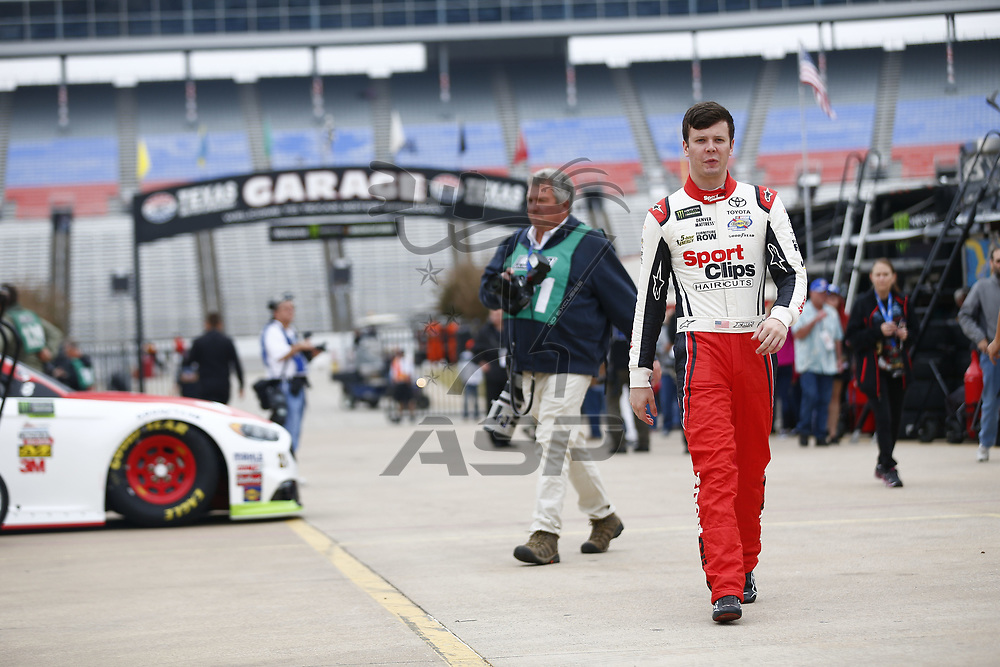 November 03, 2017 - Ft. Worth, Texas, USA: \{persons}\ hangs out in the garage during practice for the AAA Texas 500 at Texas Motor Speedway in Ft. Worth, Texas.