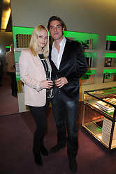 ANNABELLE HORSEY and MAX BROWN at a party hosted by Prada to celebrate launch of a book documenting the company's diverse projects in fashion, architecture, film and art held at their store 16/18 Old Bond Street, London on 19th November 2009.