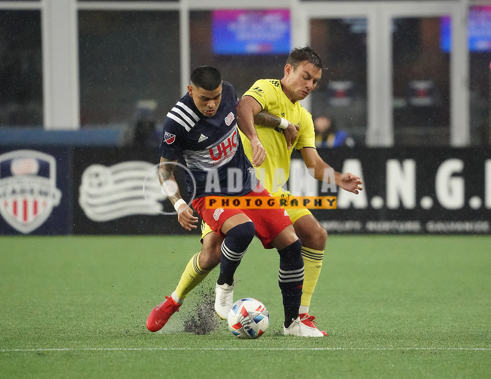 during New England Revolution and Nashville SC MLS match in FOXBORO, MA on Wednesday, August 4, 2021  The match ended in 0-0. CREDIT/ CHRIS ADUAMA