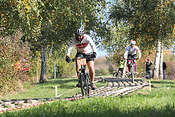 SARAJEVO, Oct. 16, 2017  Cyclists compete during the men's mountain bike cross-country of cycling at the 1st Bike Fest in Sarajevo, Bosnia and Herzegovina (BiH), on Oct. 15, 2017. Family day and mountain bike cross-country of cycling gathered all generations closer at the event ''First Bike Fest'' at the hill near the center of Bosnia and Herzegovina's (BiH) capital Sarajevo on late Sunday afternoon. (Credit Image: © Haris Memija/Xinhua via ZUMA Wire)