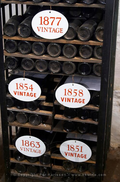 old bottles in the cellar old vintages ferreira port lodge vila nova de gaia porto portugal