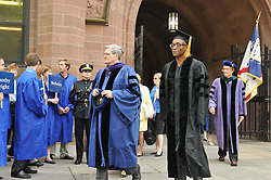 Choreographer Bill T. Jones on his way to receive his Doctor of Fine Arts Degree at Yale University Commencement 25 May 2009