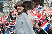Staatsbezoek Denemarken - Dag 2. Bezoek van eiland Bezoek Samso<br /> <br /> State visit Denmark - Day 2. Visit to the island of Samso<br /> <br /> op de foto / On the photo:  Prinses Mary / Princess Mary