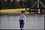 Sydney, AUSTRALIA,  GBR W2-, Dot BLACKIE  2000 Olympic Regatta, West Lakes Penrith. NSW.  [Mandatory Credit. Peter Spurrier/Intersport Images] Sydney International Regatta Centre (SIRC) 2000 Olympic Rowing Regatta00085138.tif