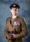Military portrait, officer head and shoulders, headshot - Sheffield