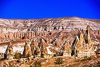 Goreme and Goreme Valley, Cappadocia, Turkey