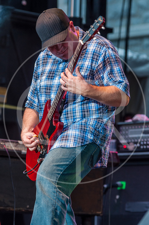 BALTIMORE United States - July 21, 2012: Tim Sult of Clutch performs on the Wells Fargo Stage at Artscape, located in Baltimore's Mount Royal Cultural Corridor