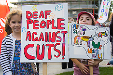 2015-09-26 March For Access demands equal work opportunities for deaf and disabled