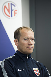 August 31, 2017 - Oslo, NORWAY - 170831 Communications director of the Norwegian Football Association (NFF) Svein Graff speaks during a press conference regarding football player Ada Hegerberg (not pictured) taking a break from the national team on August 31, 2017 in Oslo..Photo: Jon Olav Nesvold / BILDBYRN / kod JE / 160000 (Credit Image: © Jon Olav Nesvold/Bildbyran via ZUMA Wire)